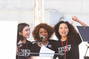 Rowan Blanchard, Alfre Woodard and Jurnee Smollett-Bell  attend Women's March Los Angeles 2018 on January 20, 2018 in Los Angeles, California.