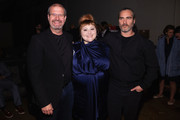 (L-R) Keith Simanton, Beth Ditto and Joaquin Phoenix pose for a photo after a screening of the film 'Don't Worry, He Won't  Get Far On Foot' during the Seattle International Film Festival at SIFF Cinema Egyptian on June 10, 2018 in Seattle, Washington.