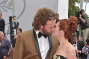 "T.J. Miller and Kate Gorney kiss as they attend the ""Wonderstruck"" screening during the 70th annual Cannes Film Festival at Palais des Festivals on May 18, 2017 in Cannes, France."