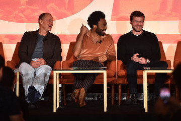 Woody Harrelson Alden Ehrenreich STARS Stars And Filmmakers Hold L.A. Press Conference For 'SOLO: A Star Wars Story'