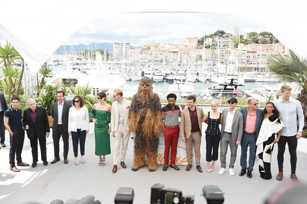 'Solo: A Star Wars Story' Official Photocall At The Palais Des Festivals During The 71st International Cannes Film Festival
