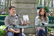 Actors Jason Biggs (L) and wife/author Jenny Mollen speak to a crownd at the 'Word For Word' author event with Jason Biggs and Jenny Mollen on June 18, 2014 in New York, United States.