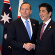 Shinzo Abe and Tony Abbott Photos