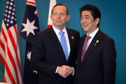 Shinzo Abe and Tony Abbott Photos Photo