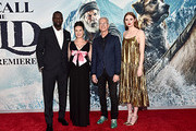 """Omar Sy, Cara Gee, Director Chris Sanders and Karen Gillan arrive at the World Premiere of 20th Century Studios' """"The Call of the Wild"""" at the El Capitan Theatre on February 13, 2020 in Hollywood, California. The film releases on Friday, February 21, 2020."""