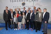"Cast and crew of the film attend the world premiere of Disney's ""Tomorrowland"" at Disneyland, Anaheim on May 9, 2015 in Anaheim, California."