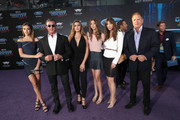 "(L-R) Sistine Rose Stallone, actor Sylvester Stallone, Sophia Rose Stallone, Scarlet Rose Stallone, Jennifer Flavin and Frank Stallone at The World Premiere of Marvel Studios' ""Guardians of the Galaxy Vol. 2."" at Dolby Theatre in Hollywood, CA April 19th, 2017"