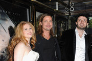 (L-R)  Mireille Enos, Brad Pitt and Nikola Djuricko attend the World Premiere of 'World War Z' at The Empire Cinema on June 2, 2013 in London, England.