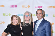 (L-R) Katie Couric, Worldwide Orphans Foundation CEO and President Dr. Jane Aronson, and John Molner attend the Worldwide Orphans 14th Annual Gala at Cipriani Wall Street on November 5, 2018 in New York City.