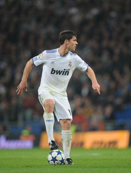 Xabi Alonso Xabi Alonso of Real in action during the Copa del Rey quarter final first leg match between Real Madrid and Atletico Madrid at Estadio Santiago Bernabeu on January 13, 2011 in Madrid, Spain.