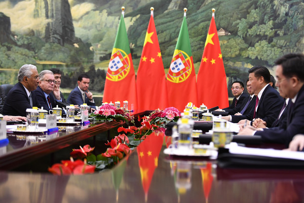 Portuguese Prime Minister Antonio Costa Meets With Chinese President Xi Jinping