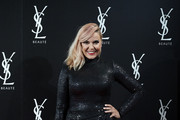 Actress Silvia Superstar attends 'YSL Beaute, THE SLIM Rouge PurCouture' party at the Santona Palace on November 6, 2018 in Madrid, Spain.