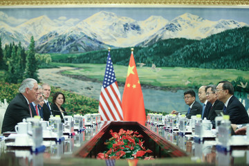 Yang Jiechi U.S. Secretary of State Rex Tillerson Visits China