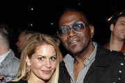 (L-R) Candace Cameron Bure and Randy Jackson attend Yardbird's Southern Table & Bar Los Angeles grand opening on April 5, 2018 in Los Angeles, California.