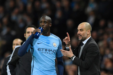 Yaya Toure Manchester City FC v AS Monaco - UEFA Champions League Round of 16: First Leg