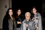 "(L-R) Angela Missoni, Margherita Missoni, Rosita Missoni, Teresa Missoni attend the ""Yayoi Kusama - I want To Live Forever"" Exhibition Preview on November 26, 2009 in Milan, Italy."