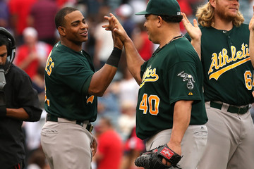 Yeonis Cespedes Oakland Athletics v Los Angeles Angels of Anaheim