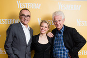 (L-R) Director Danny Boyle, Kate McKinnon and screenwriter Richard Curtis attend special screening of Yesterday on June 21, 2019 in Gorleston-on-Sea, England.