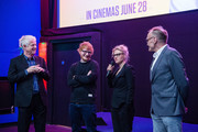 (L-R) Screenwriter Richard Curtis, Ed Sheeran, Kate McKinnon and director Danny Boyle introduce a special screening of Yesterday on June 21, 2019 in Gorleston-on-Sea, England.