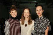 (L-R) Singer Oh Land, Sofia Sanchez Barrenechea and Sophie Auster attend the Yigal Azrouel fashion show on February 15, 2015 in New York City.
