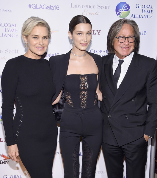 Mohamed Hadid with his second wife Yolanda Hadid and daughter, Bella, 21 in an event in New York City