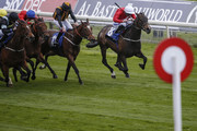Paul Hanagan riding Clubbable (R) win The Conundrum HR Consulting Stakes at York Racecourse on May 16, 2018 in York, United Kingdom.