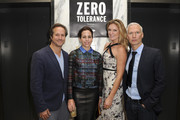 YoungArts President and CEO Paul Lehr, Adriana Cisneros, Sarah Arison, and Director of MoMa PS1 Klaus Biesenbach attend the YoungArts and MoMa PS1 reception celebrating Zero Tolerance: Miami on December 5, 2014 in Miami, Florida.