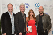 "(L-R) Vice President and COO iS CLINICAL Alec R. Call, President and CEO iS CLINICAL Bryan Johns, author Dr. Nigma Talib and Jason Statham attend the ""Younger Skin Starts In The Gut"" book launch party at Four Seasons Hotel Los Angeles at Beverly Hills on March 22, 2016 in Los Angeles, California."