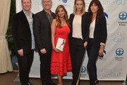 "(L-R) Vice President and COO iS CLINICAL Alec R. Call, President and CEO iS CLINICAL Bryan Johns, author Dr. Nigma Talib, Rosie Huntington-Whiteley and Shani Darden attend the ""Younger Skin Starts In The Gut"" book launch party at Four Seasons Hotel Los Angeles at Beverly Hills on March 22, 2016 in Los Angeles, California."