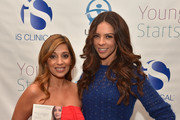 "Author Dr. Nigma Talib (L) and Terri Seymour attend the ""Younger Skin Starts In The Gut"" book launch party at Four Seasons Hotel Los Angeles at Beverly Hills on March 22, 2016 in Los Angeles, California."