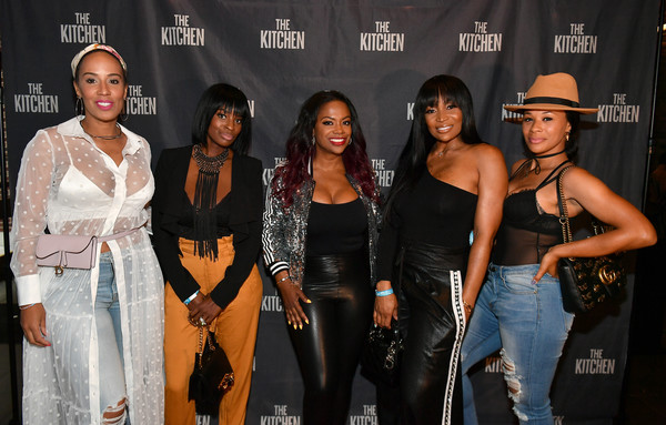 'The Kitchen' Screening Hosted By Kandi Burruss In Atlanta, GA [the kitchen screening,fashion,event,performance,talent show,model,jeans,fashion design,kandi burruss,marlo hampton,shamea morton,tanya sam,yovanna momplaisir,l-r,atlanta,ga,screening]