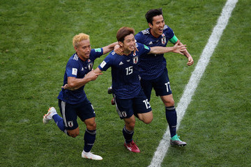 Yuto Nagatomo Makoto Hasebe Colombia Vs. Japan: Group H - 2018 FIFA World Cup Russia