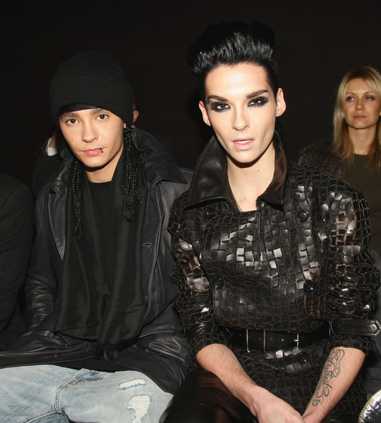 Bill Kaulitz Tom and Bill Kaulitz of Tokio Hotel attend the Z Zegna Milan Menswear Autumn/Winter 2010 show on January 19, 2010 in Milan, Italy.