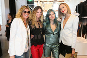 (L-R) Pascaline Audren, Ariel Veith, Tallulah Willis, and Mallory Llewellyn attend the Zadig & Voltaire Malibu store opening on May 31, 2014 in Malibu, California.