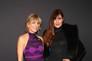 Marla Maples and Carol Alt pose backstage for Zang Toi fashion show during New York Fashion Week: The Shows at Gallery II at Spring Studios on February 13, 2019 in New York City.