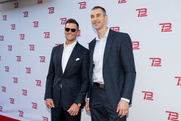 TB12 Performance And Recovery Center Grand Opening [suit,formal wear,carpet,tuxedo,event,premiere,blazer,white-collar worker,red carpet,outerwear,tom brady,zdeno chara,boston,massachusetts,new england patriots,boston bruins,tb12 performance recovery center,tb12 performance recovery center grand opening,opening]