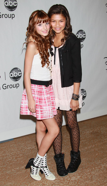 pictures of zendaya. Zendaya Coleman Actresses Bella Thorne (L) and Zendaya Coleman attend the