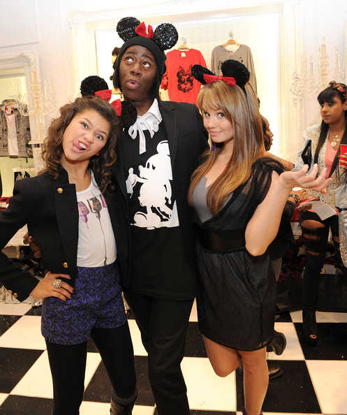 Zendaya Coleman (L-R) Actress Zendaya Coleman, designer J. Alexander and actress Debby Ryan attend the Minnie Muse Collection Launch at the Forever 21 in Hollywood and Highland on November 16, 2010 in Hollywood, California.