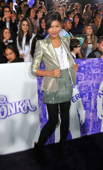"Zendaya Coleman Actress Zendaya Coleman arrives at the premiere of Paramount Pictures' ""Justin Bieber: Never Say Never"" held at Nokia Theater L.A. Live on February 8, 2011 in Los Angeles, California."
