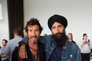 (L-R) Mark Borthwick and Waris Ahluwalia attend the Zero + Maria Cornejo fashion show during New York Fashion Week on September 11, 2017 in New York City.