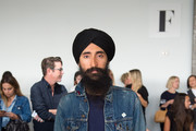 Waris Ahluwalia attends the Zero + Maria Cornejo fashion show during New York Fashion Week on September 11, 2017 in New York City.