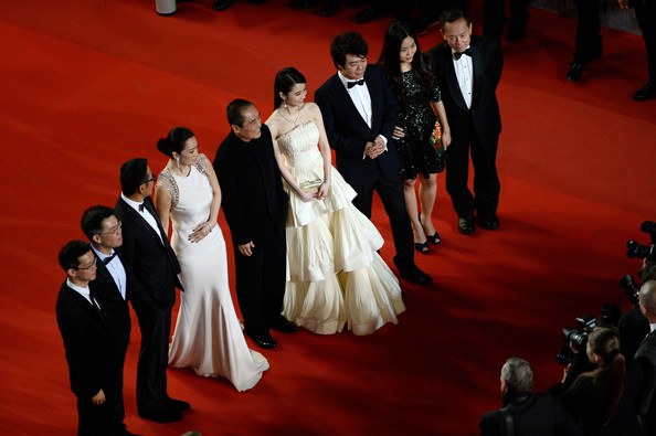 'Coming Home' Premieres at Cannes [red carpet,carpet,event,formal wear,flooring,ceremony,fashion,suit,dress,fun,gui lai,coming home premieres,cannes,france,cast crew,premiere,cannes film festival]