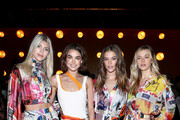 (L-R) Models Devon Windsor, .Bambi Northwood-Blyth, Nina Agdal and Victoria Lee attend the Zimmermann fashion show during February 2020 - New York Fashion Week: The Shows at SIR Stage37 on February 10, 2020 in New York City.