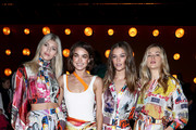 Devon Windsor, Bambi Northwood-Blyth, Nina Agdal and Victoria Lee attend the Zimmermann fashion show during February 2020 - New York Fashion Week: The Shows at SIR Stage37 on February 10, 2020 in New York City.