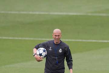 Zinedine Zidane Real Madrid UEFA Open Media Day