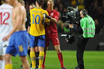 Zlatan Ibrahimovic Joe Hart Sweden v England - International Friendly