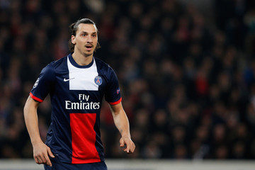 Zlatan Ibrahimovic Paris Saint-Germain FC v Bayer Leverkusen
