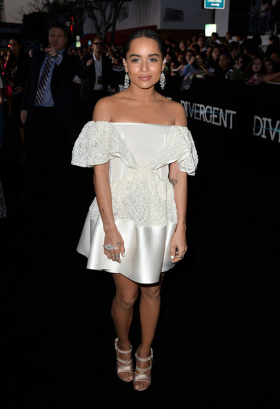 "Zoe Kravitz - Premiere Of Summit Entertainment's ""Divergent"" - Red Carpet"