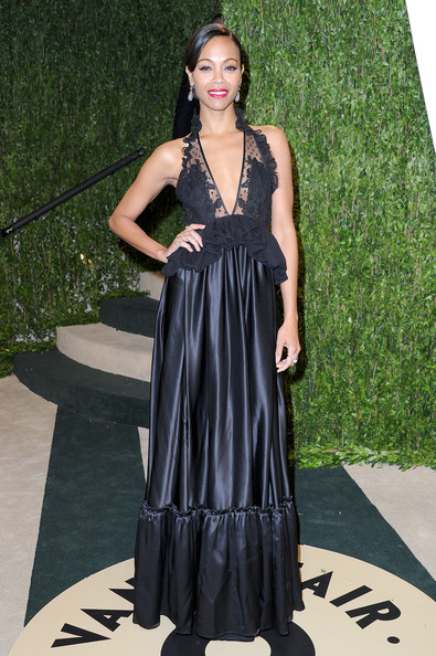 Zoe Saldana - 2013 Vanity Fair Oscar Party Hosted By Graydon Carter - Arrivals