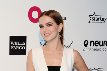 Zoey Deutch Arrivals at the Elton John AIDS Foundation Oscars Viewing Party — Part 4